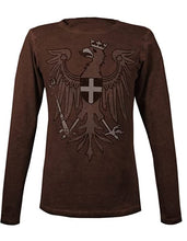 Laden Sie das Bild in den Galerie-Viewer, Musterbrand The Witcher Herren Langarm T-Shirt Redanian Eagle Brown