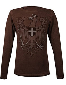 Musterbrand The Witcher Herren Langarm T-Shirt Redanian Eagle Brown