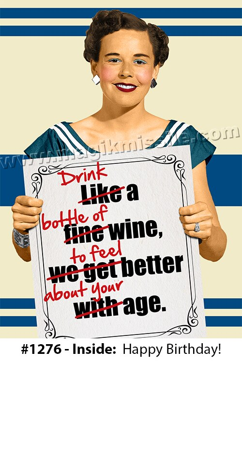 1276 - Funny Birthday Card