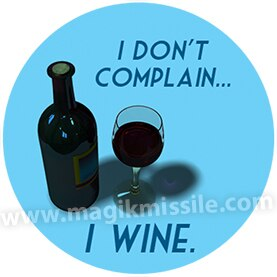 I Wine Button