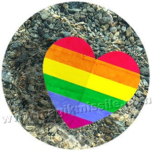 Rainbow Heart button