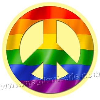 Rainbow Peace button