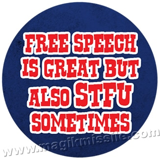 Free Speech button