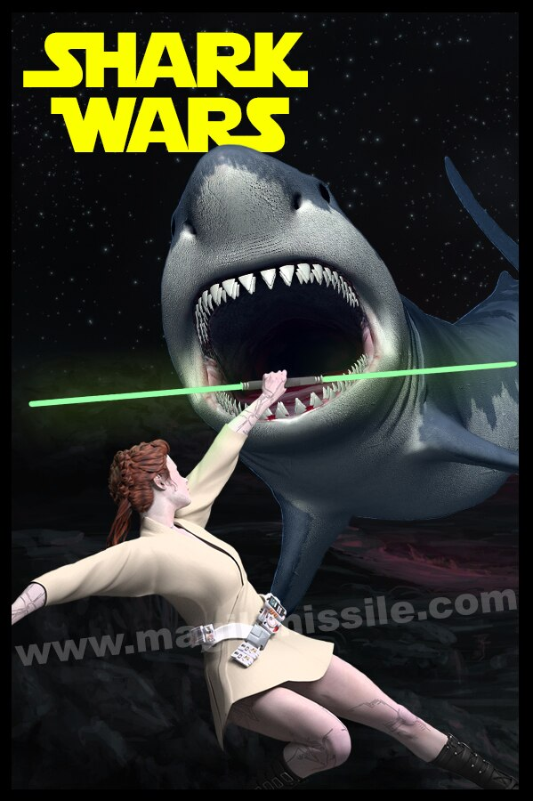 Shark Wars magnet