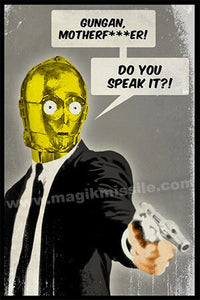 C3PO Pulp Fiction magnet