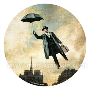 Flying Umbrella Decal