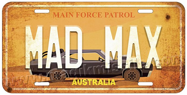 MAD MAX license plate