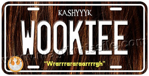 WOOKIEE license plate