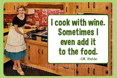 Cook With Wine Magnet