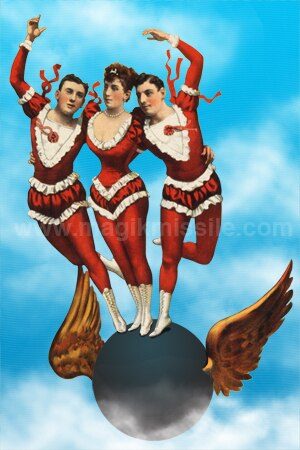 Flying Acrobats Magnet