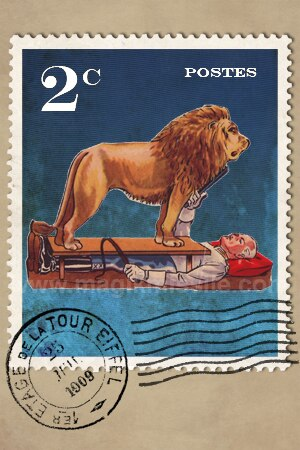 French Stamp Magnet