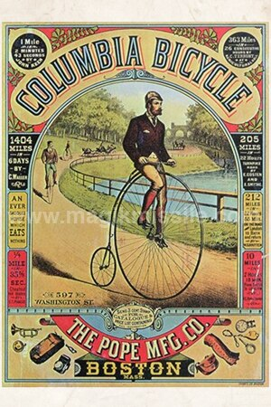 Columbia Bicycles Magnet