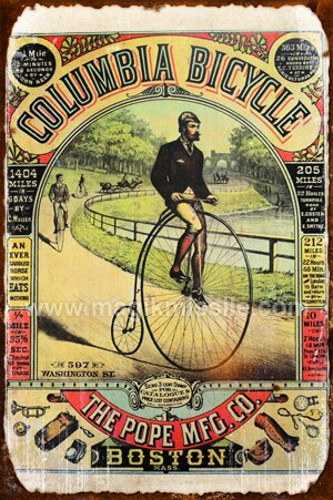 Columbia Bicycle Sign