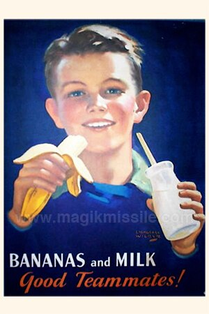 Bananas and Milk Sign