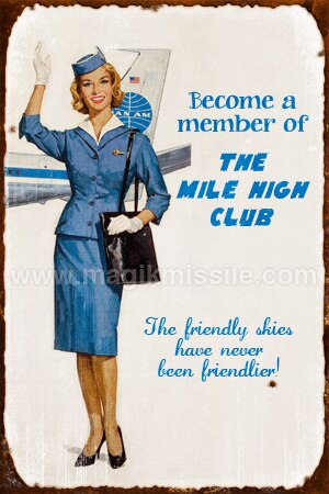 Mile High Club Sign
