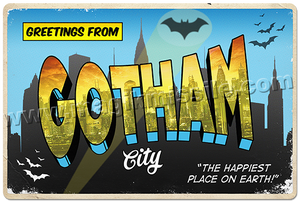 Greetings from Gotham City sign