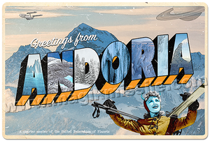Greetings from Andoria sign