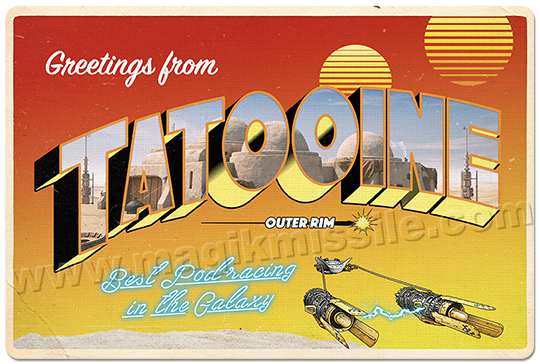 Greetings from Tattooine sign