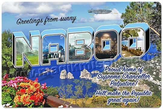 Greetings from Naboo sign