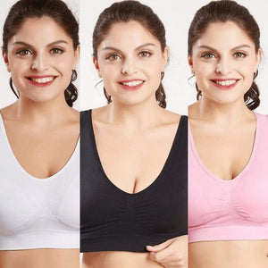 Woman Blush® 31201 Set of 3 (White/Black/Pink) / S Wireless Lift Up Bra