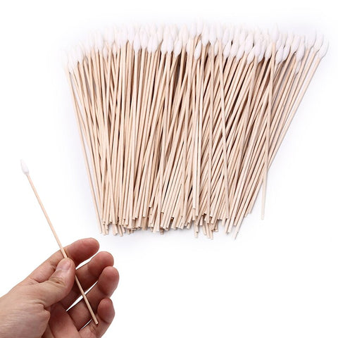 200pcs 15cm Gun Cleaning Cotton Swabs