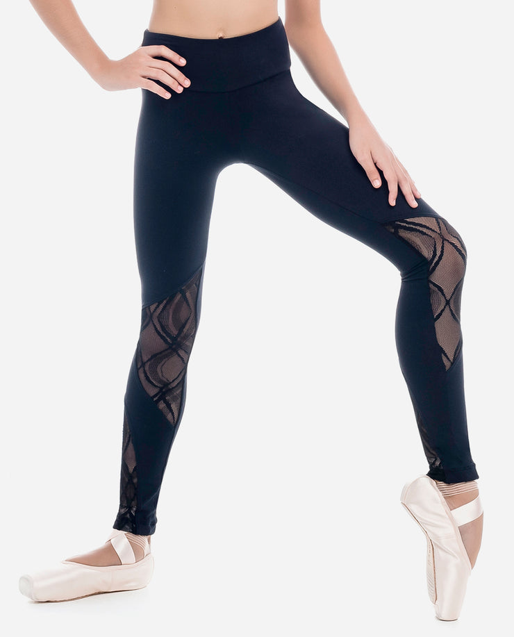 Girl's Detail Dance Leggings - L 1877 LE - So Danca