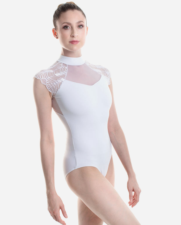 Fan Lace Turtle-neck leotard - PL 2039 - So Danca