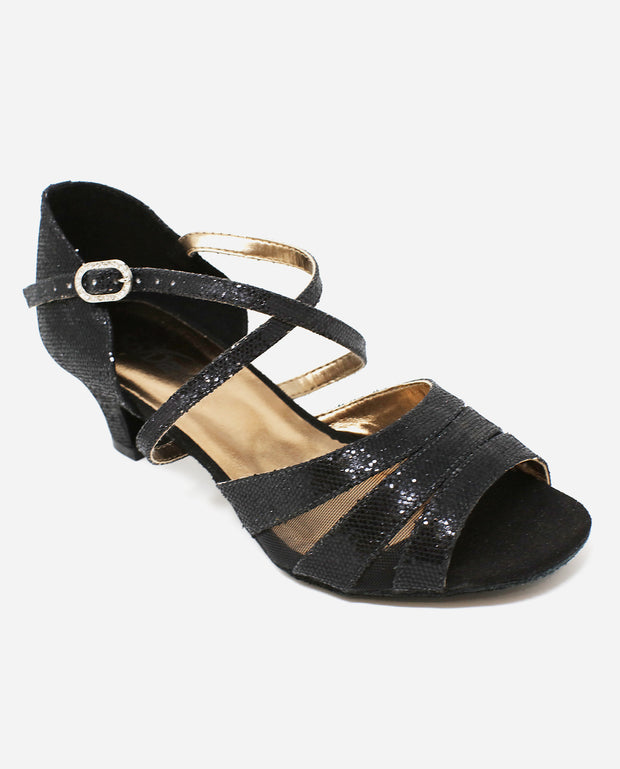 Black Ballroom Sandal - BL 198 - So Danca