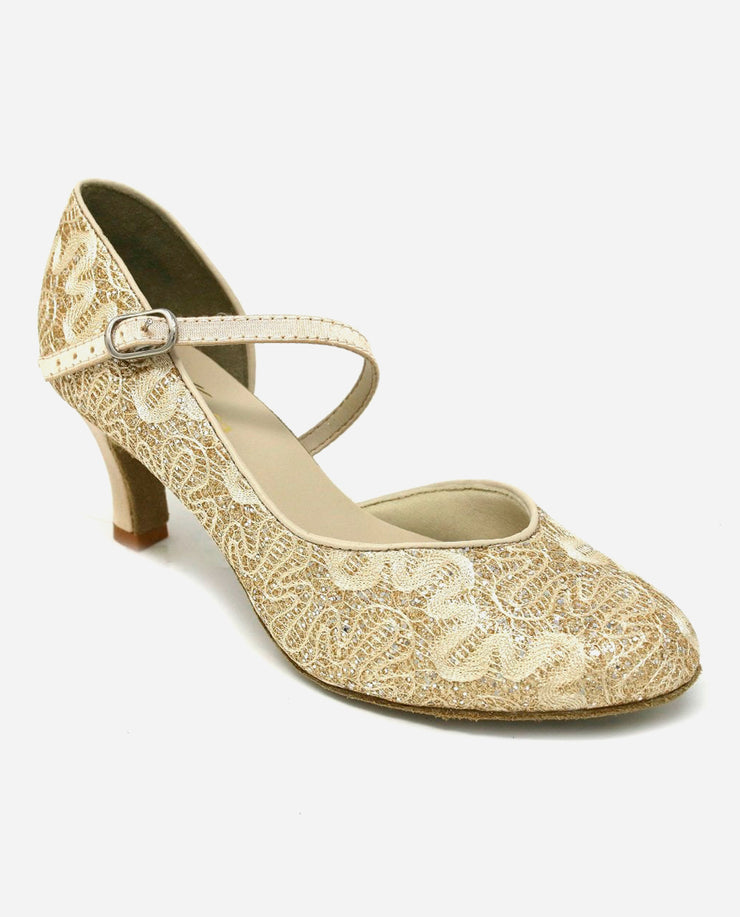 Asymmetric Gold Ballroom Shoe - BL 504 - So Danca