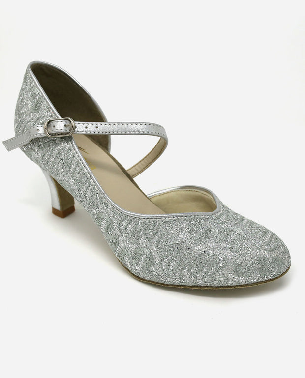 Asymmetric Silver Ballroom Shoe - BL 504 - So Danca