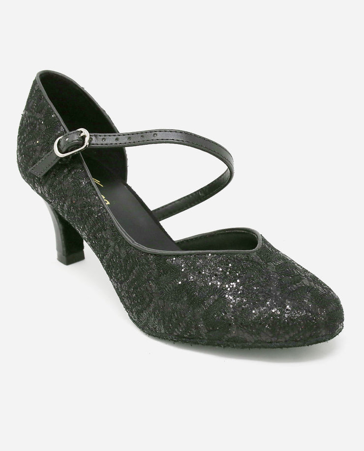 Asymmetric Black Ballroom Shoe - BL 504 - So Danca