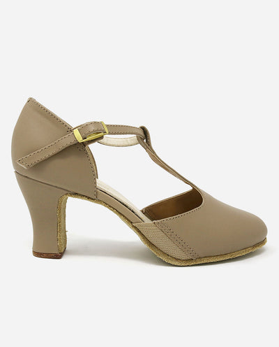 "2.5"" Heel T-strap Character Shoe - CH 57 - So Danca"