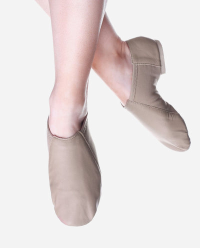 Child's Split Sole Low Cut Tan Jazz Boot - JZE 45 - So Danca