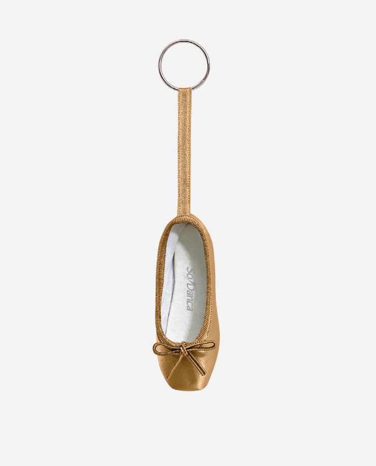Satin Pointe Shoe Keyring - KCE 01 - So Danca