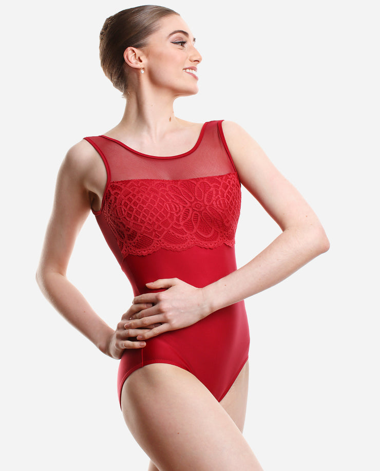 Stunning lace overlay leotard - PL 2043 LE - So Danca