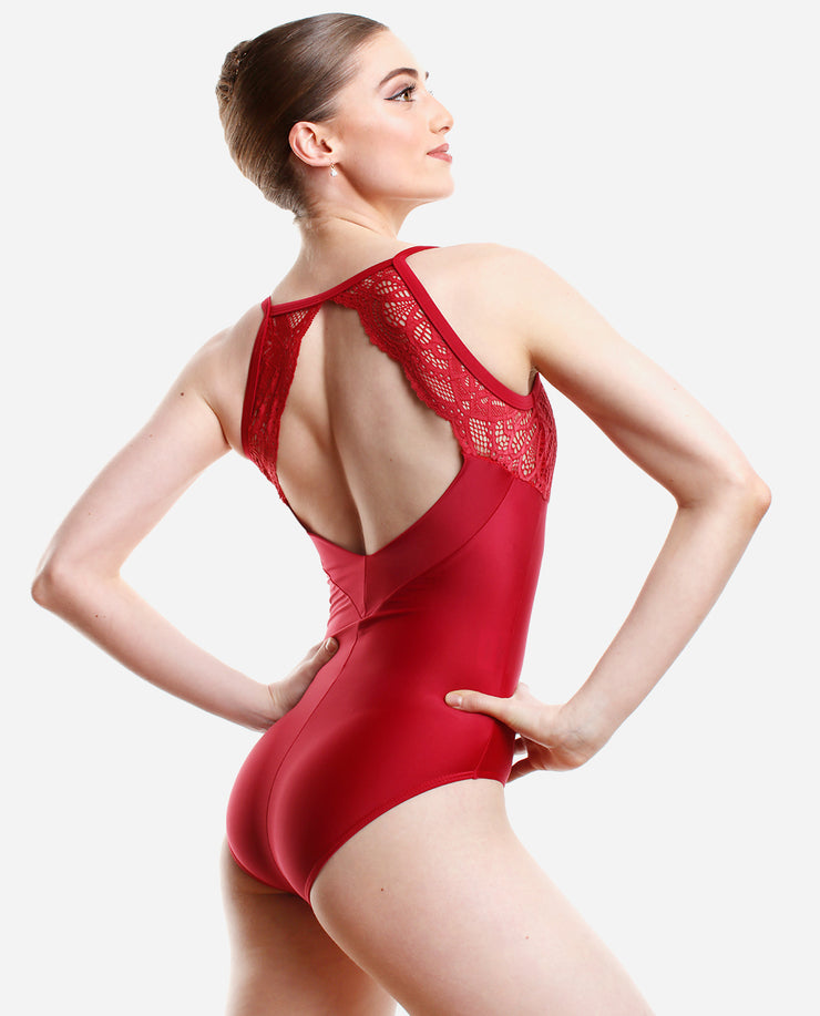 Simply red camisole leotard - PL 2044 LE - So Danca