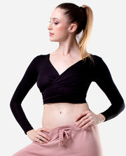 Cross-over Crop Top - PL 2055 LE - So Danca