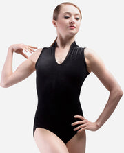 Velour Mandarin Collar Leotard - RDE 1845 - So Danca