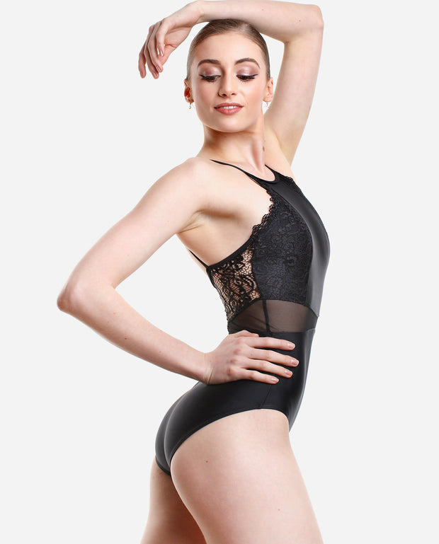 Feminine High Neck Leotard - RDE 1876 - So Danca