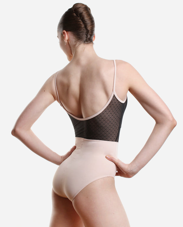 Mesh Overlay Leotard - RDE 1889 - So Danca