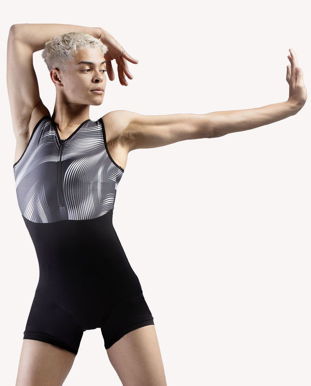 Two-tone Zip-front Unitard - RDE 1933 - So Danca