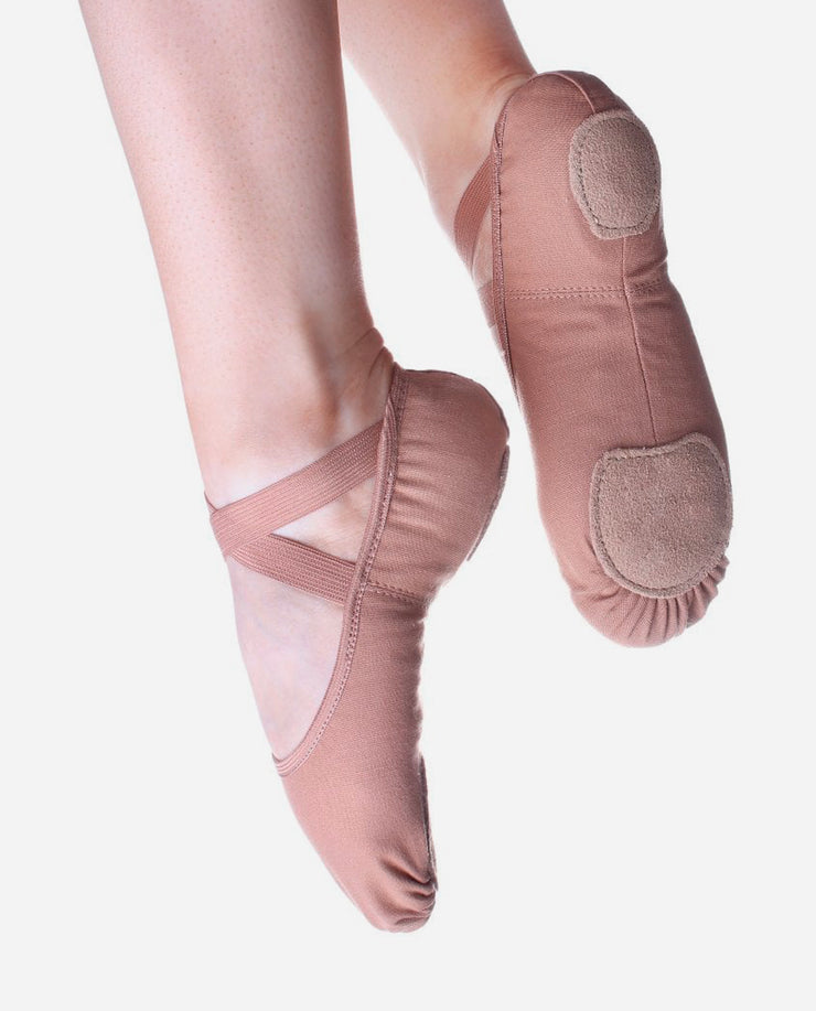 X/Wide Stretch-canvas Ballet Shoe - SD 16/18 - So Danca