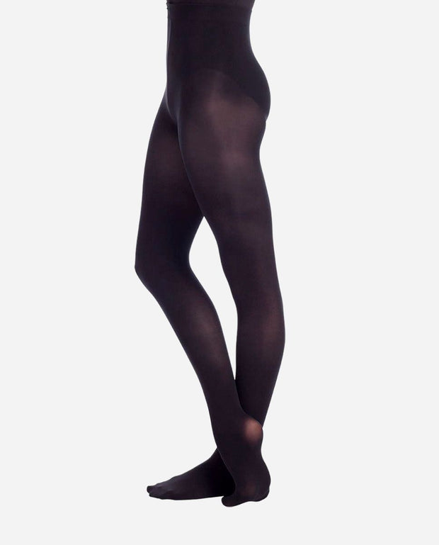 Child Fully Footed Black Tights - TS 73 - So Danca