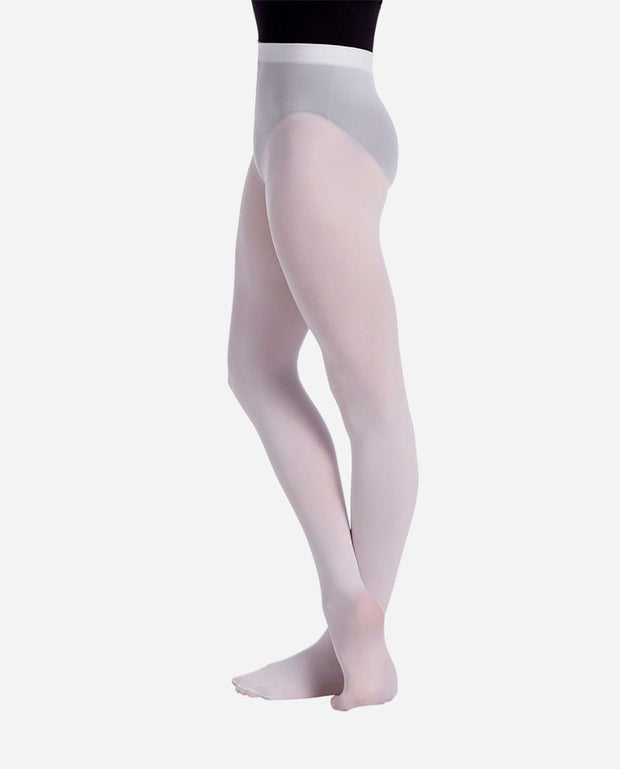 Child Fully Footed White Tights - TS 73 - So Danca