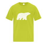 PREMIUM COTTON TEE - YOUTH - WHITE BEAR - Canadian Polar Bear Habitat Market
