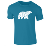 PREMIUM COTTON TEE - MEN- WHITE BEAR - Canadian Polar Bear Habitat Market