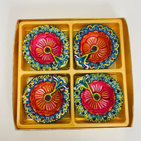 Designer Diya Without Wax - Set of 4pcs