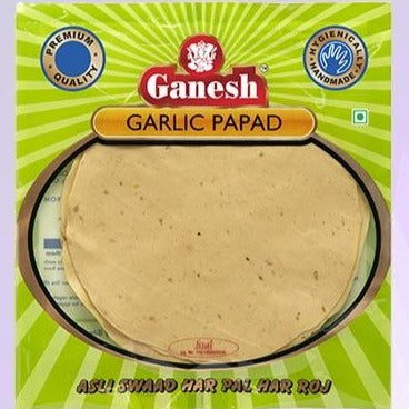Ganesh Garlic Papad / Lentil Chips 200g/7oz