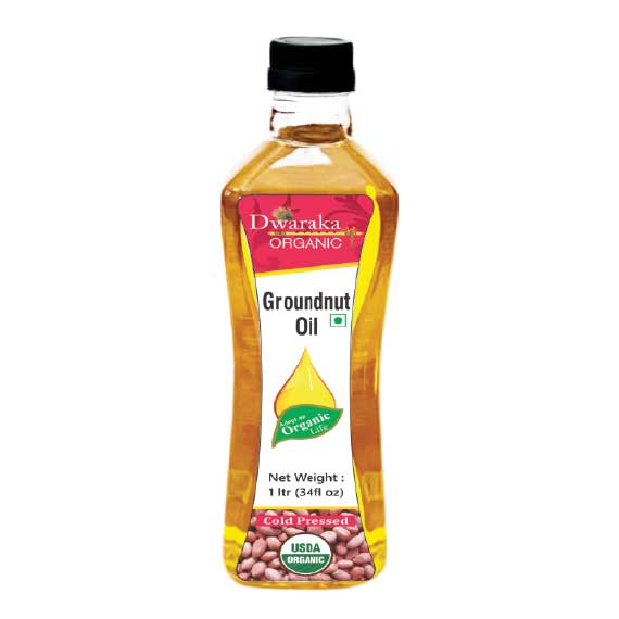 Dwaraka Organic Groundnut Oil Cold Pressed 1ltr