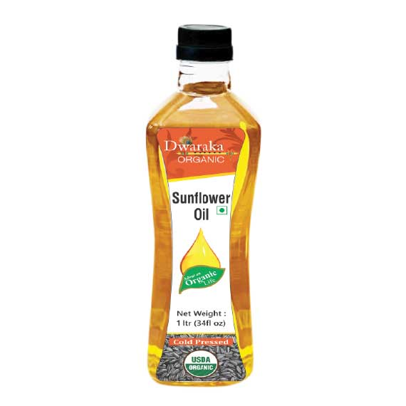Dwaraka Organic Sunflower Oil Cold Pressed 1ltr